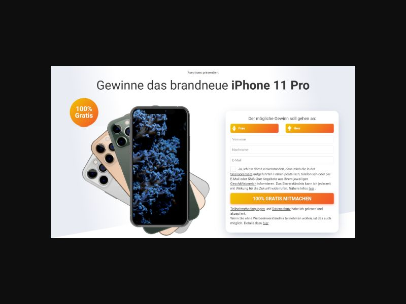iPhone 11 Pro - Sweeps SOI (DACH)