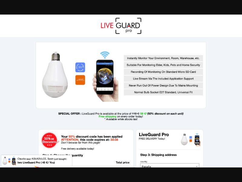 LiveGuard Pro - CC Submit - WW - E-Commerce - Responsive