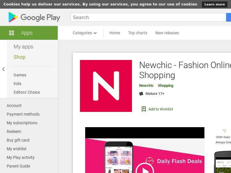 Newchic - Android FR, DE, IT, ES, AE, SA, US, UK (CPS=purchase)