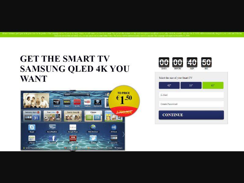 Samsung QLED TV (AT, CH, DE, DK, NO, SE, CL, IS, JP, ES, AE, FI, KW, OM, QA, SA, IT, PT, UY, EC, FR, BE, NZ, BG, MD, SG, CO, JO, MX, PA, BR, EE, AU, CA, GB, US)