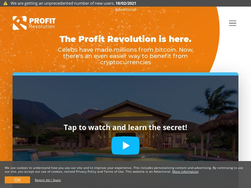 Profit Revolution EN (HK,IE,NZ,SG,GB), [CPA], Business, Investment platforms, Cryptocurrencies, Financial instruments, Deposit Payment, bitcoin, cryptocurrency, finance, money