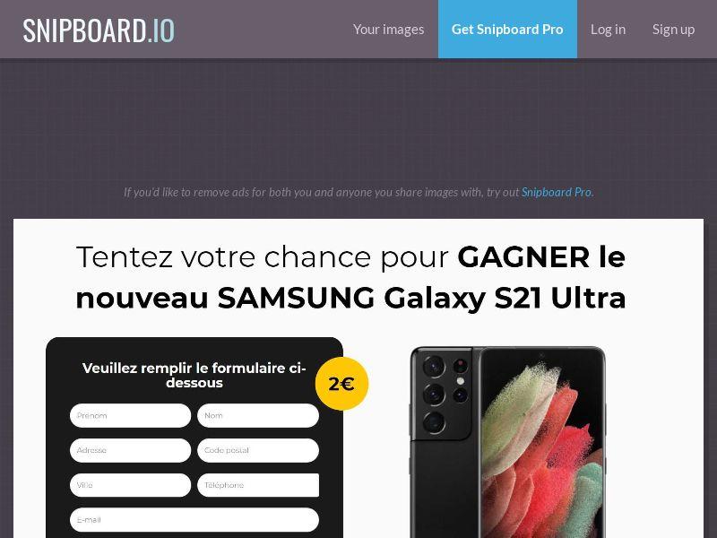 42409 - FR - BigEntry - Samsung Galaxy S21 Ultra v1 - CC submit