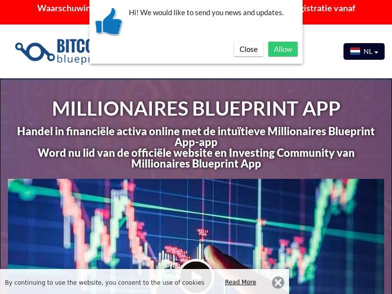 Millionaires Blueprint App Dutch 3225