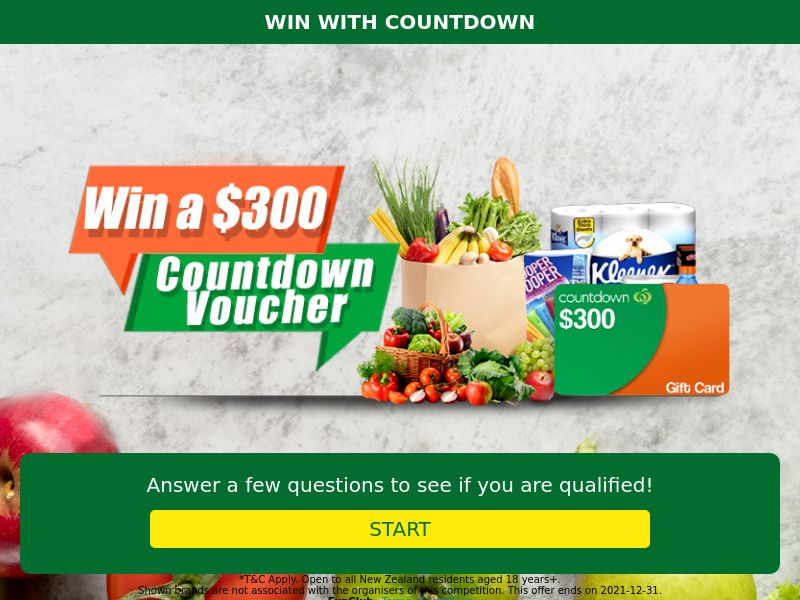 xlWin - $300 Countdown Voucher [NZ]