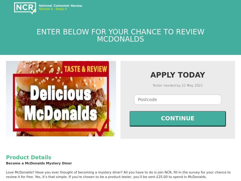 Review McDonalds - UK