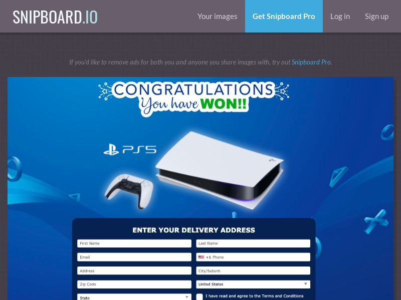 38312 - US - AbsoluteWinner - Playstation 5 (Blue) - CC submit GASMOBI EXCLUSIVE