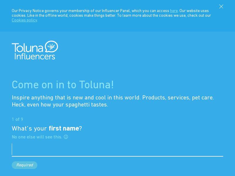 Toluna (Surveys) - DOI - UK