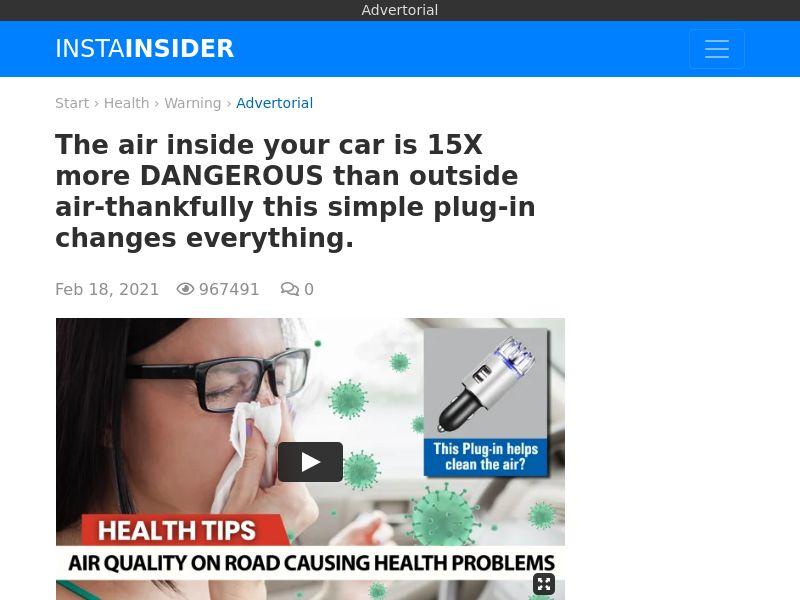 InstaFresh - Car Air Purifier - All Geos - CC Submit