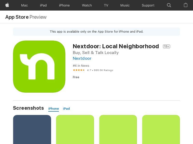 Nextdoor iOS, US - (CPR)