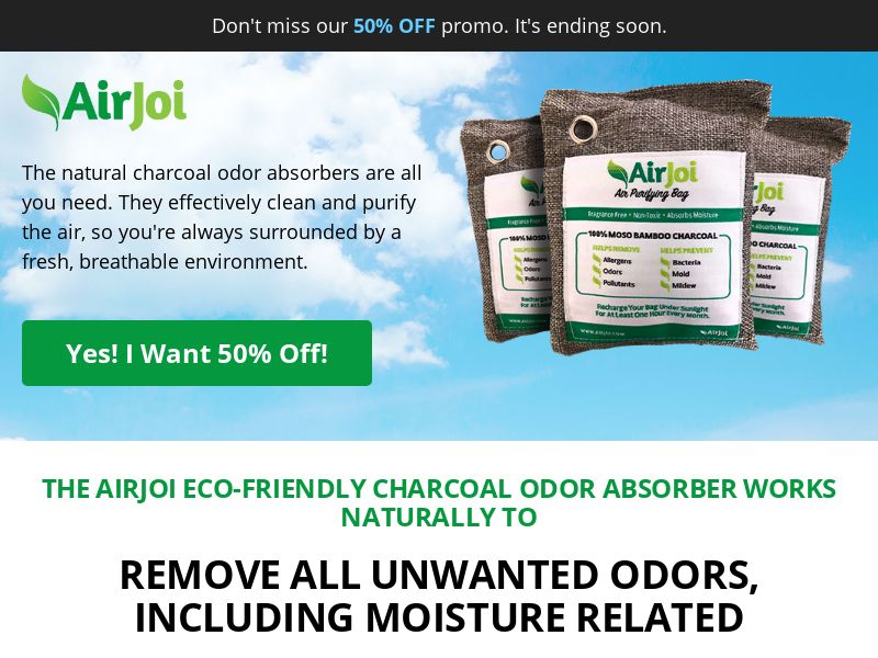AirJoi - Charcoal Odor Absober ***Creative Approval Needed