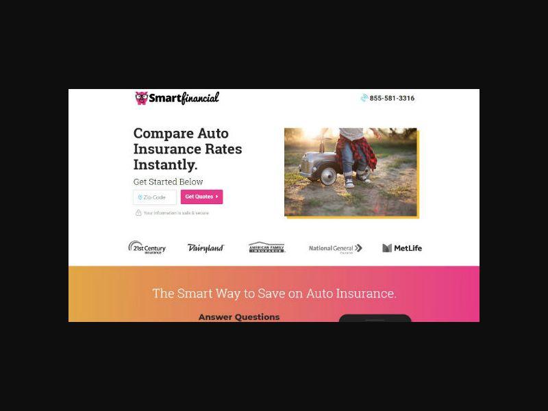SmartFinancial - Auto Insurance (US)