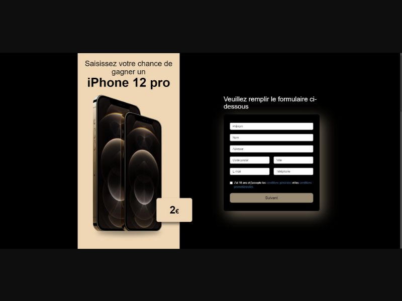 iPhone 12 Pro - Sweepstakes & Surveys - Trial - [FR]