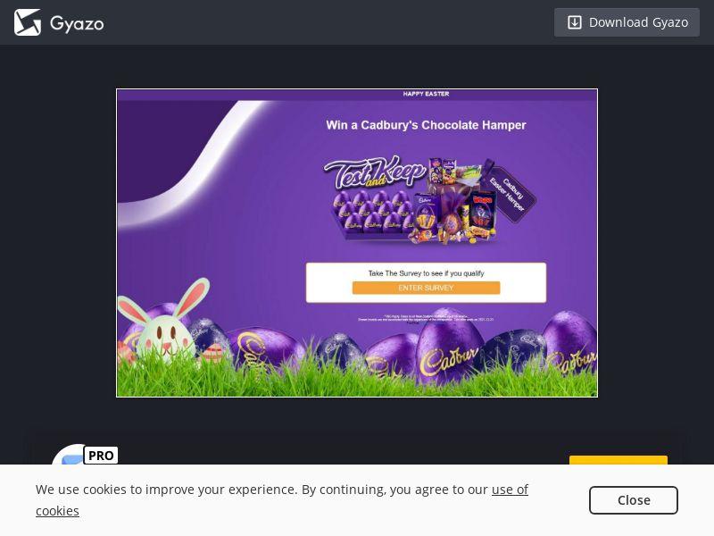 Cadbury Easter Voucher (NZ) (CPL)