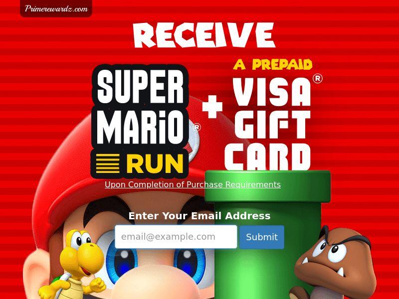 Incent - Email Submit Super Mario Run GC - US