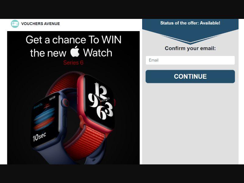 Vouchersavenue - Win Apple Watch 6 (US) (CPL) (Personal Approval)