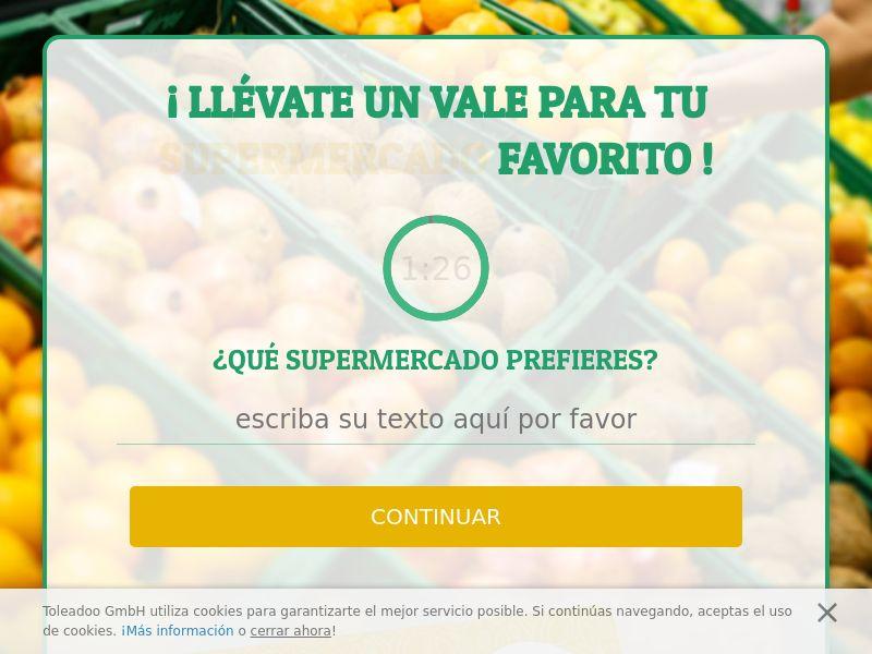 (13769) [WEB+WAP] Supermarket 1000€ - ES - CPL