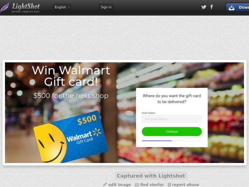 Prizeofday - Walmart Voucher 500 (CA) (Trial) (Personal Approval)