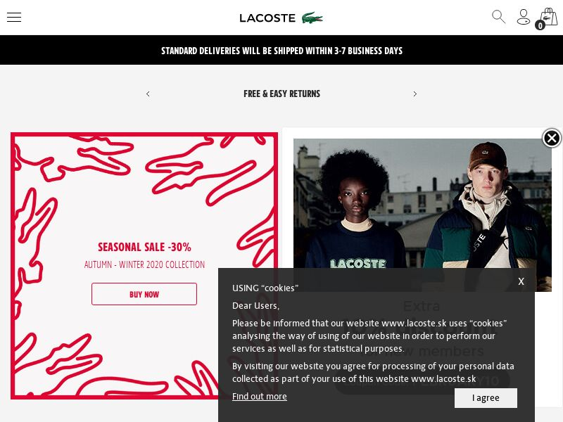 Lacoste - SK (SK), [CPS], Fashion, Clothes, Shoes, Accessories and additions, Accessories, Jewelry, Presents, Sell, shop, gift