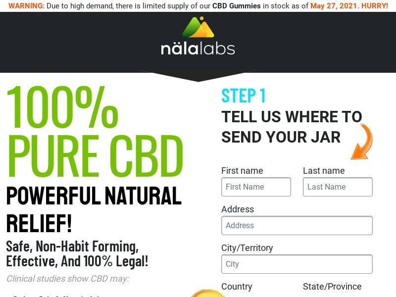 Nala Labs CBD Gummies (CPA) (SS) (US)