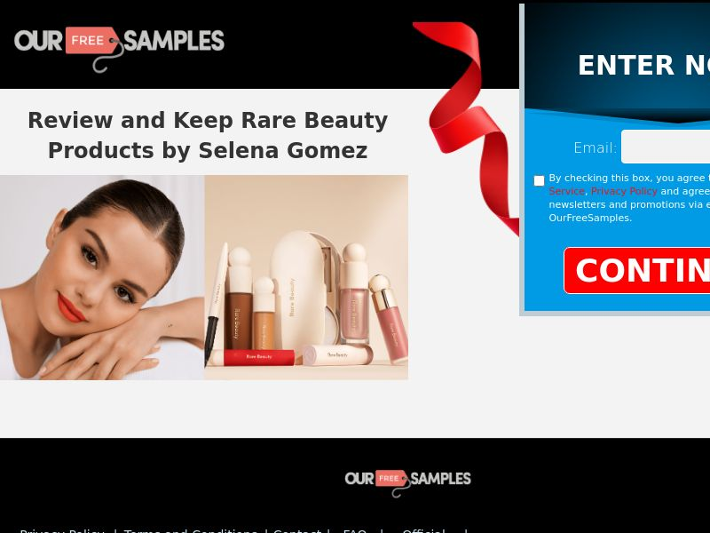 OurFreeSamples.com - Test and Keep - Selena Gomez Makeup Kit CPL US [SOI]