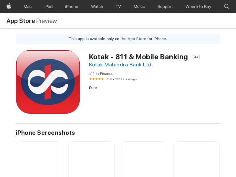 Kotak - 811 & Mobile Banking March iOS IN