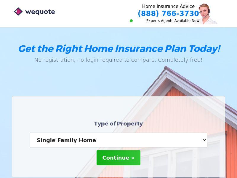 Home Insurance Lead Gen - Mobile and Desktop - US - CPL (SOI)