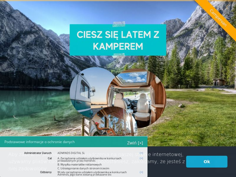 Campervan Trip - PL (PL), [CPL], Lotteries and Contests, Single Opt-In, paypal, survey, gift, gift card, free, amazon