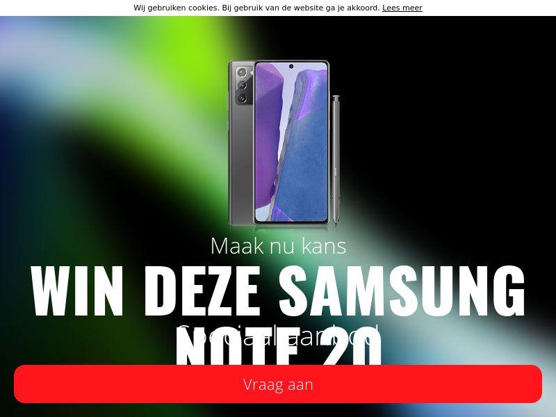 Win de Samsung NOTE 20 - BE