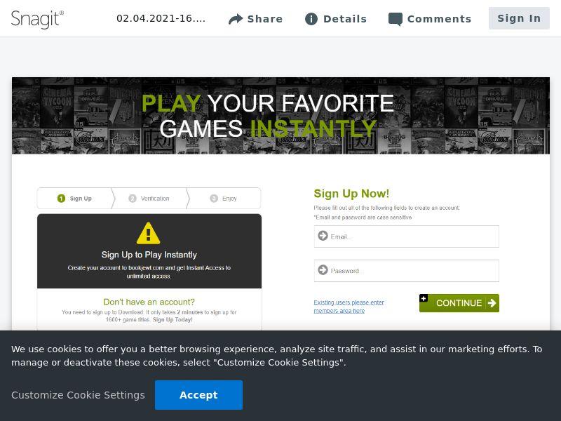 Games Signup | Intl