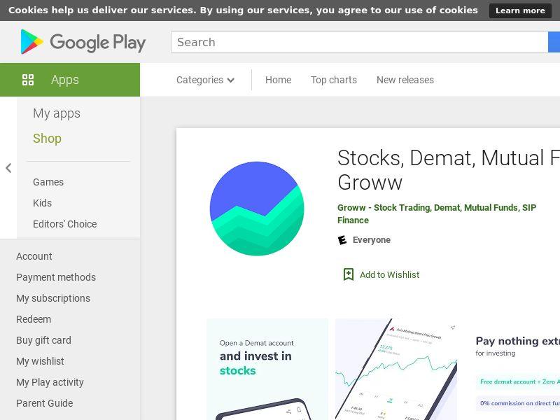 Stocks, Demat, Mutual Fund, SIP - Groww