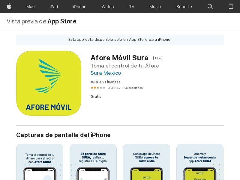 Afore SURA iOS MX CPA =New Account Create