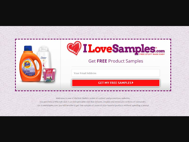 ILoveSamples US   Email Submit Path