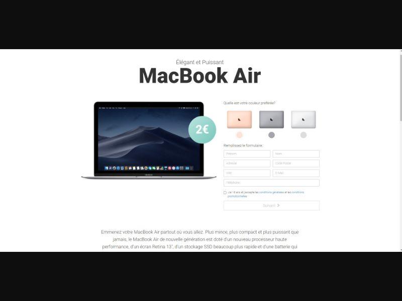 MacBook Air - Sweepstakes & Surveys - Trial - [FR]
