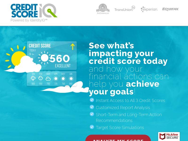 ScoreCaster IQ - Credit Score Improvement - Free Trial $1 - [US]