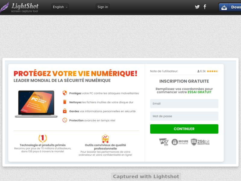 ProtectNow PC Privacy - Direct Registration (White) (CC Trial) - France
