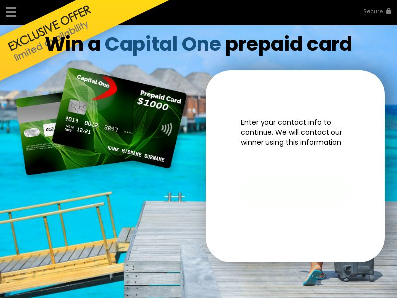 Win a capital one prepaid card - YOUSWEEPS US