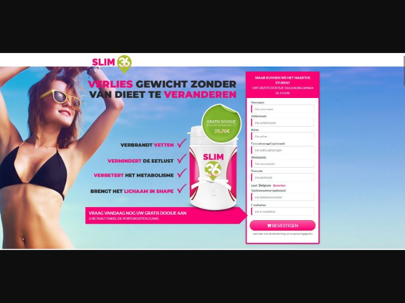 Slim 36 - V2 - Diet & Weight Loss - Trial - [BE]