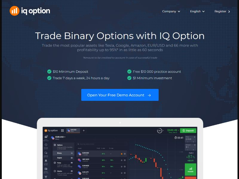 IQoption Desktop [MY] - Registration + Deposit