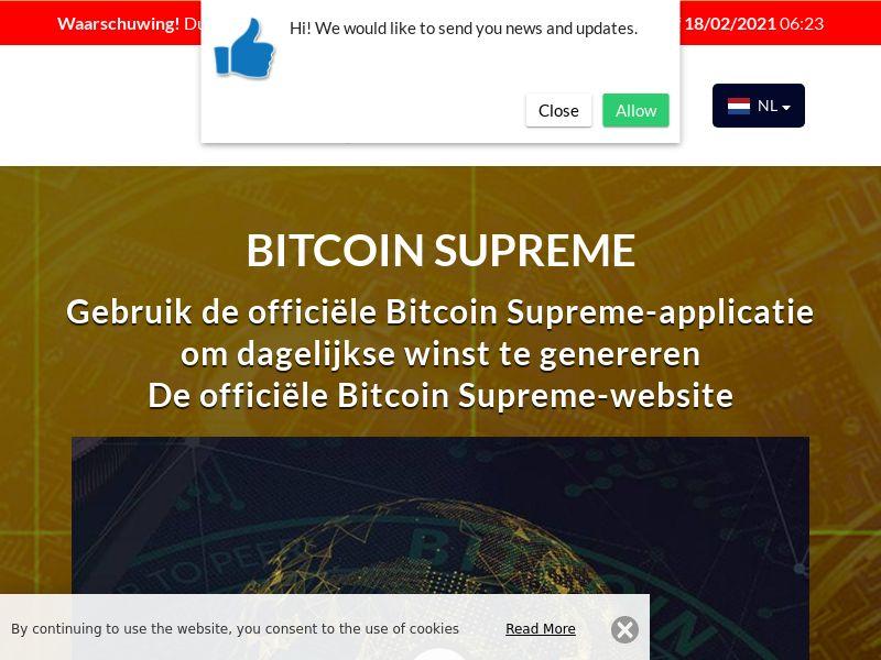 Bitcoin Supreme Dutch 1912