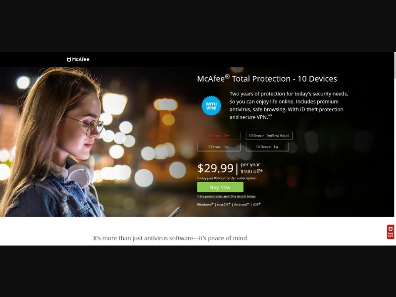 McAfee Total Protection - V1 - Software - SS - NO SEO - [US]