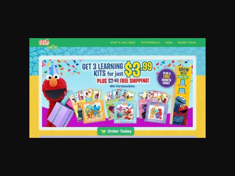 Elmo's Learning Adventure - Display (US)