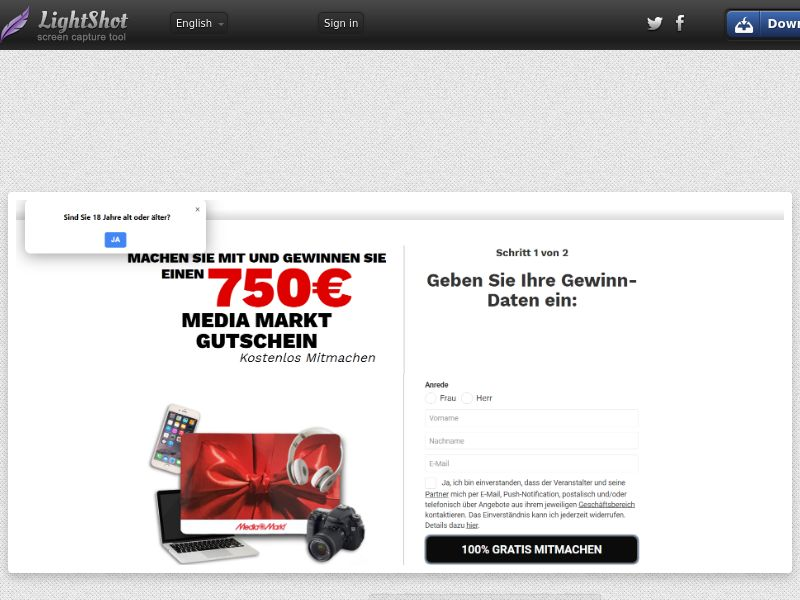7Sections - MediaMarkt €750 Giftcard (DE, AT, CH) (CPL) (Personal Approval)