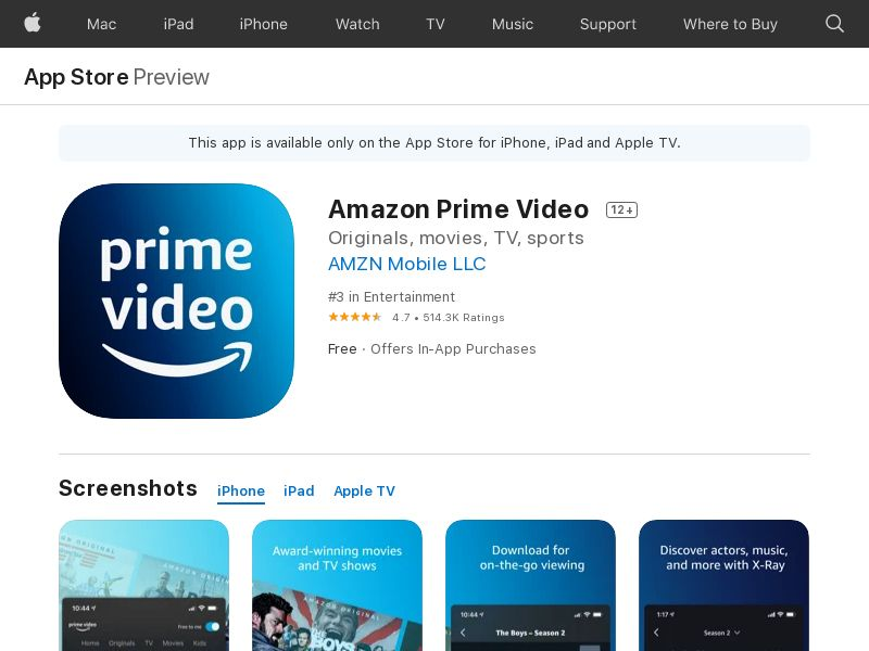 Amazon prime video_IOS_IN *redirects only with correct IDFA*