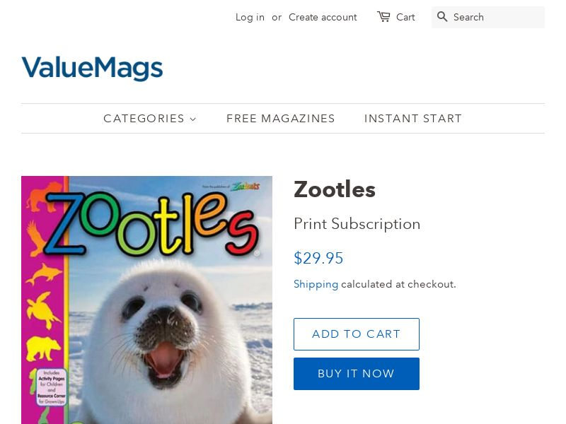 Zootles: Magazine about Animals (Pre-Schoolers) - Free Shipping | US