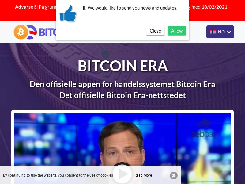 Bitcoin Era Pro - NO (NO), [CPA], Business, Investment platforms, Cryptocurrencies, Deposit Payment, bitcoin, cryptocurrency, finance, money