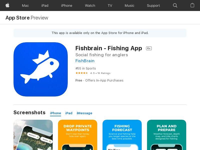 Fishbrain - Fishing App - iOS CPE