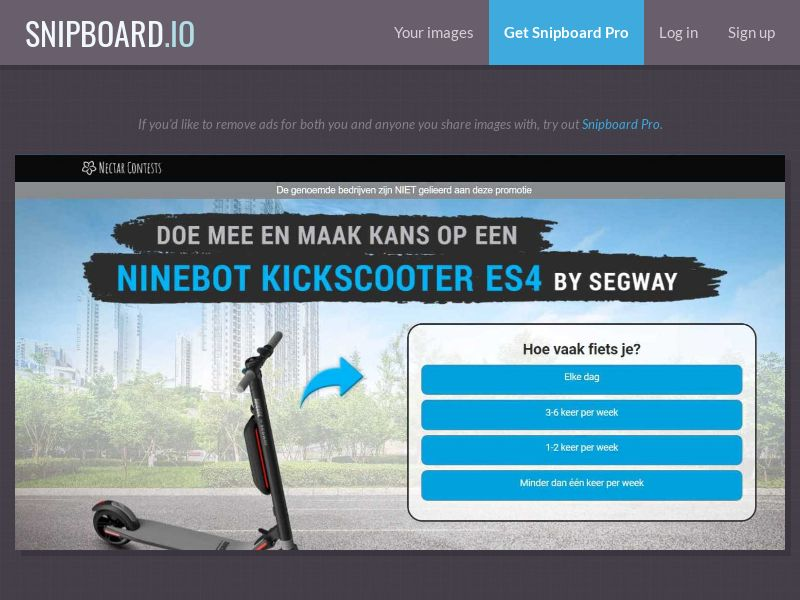 37882 - BE - NectarContests - Segway scooter (dutch) (WithPrelander) - SOI