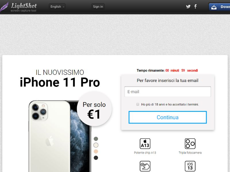 GetRealDeal iPhone 11 pro (Sweepstake) (CC Trial) - Italy