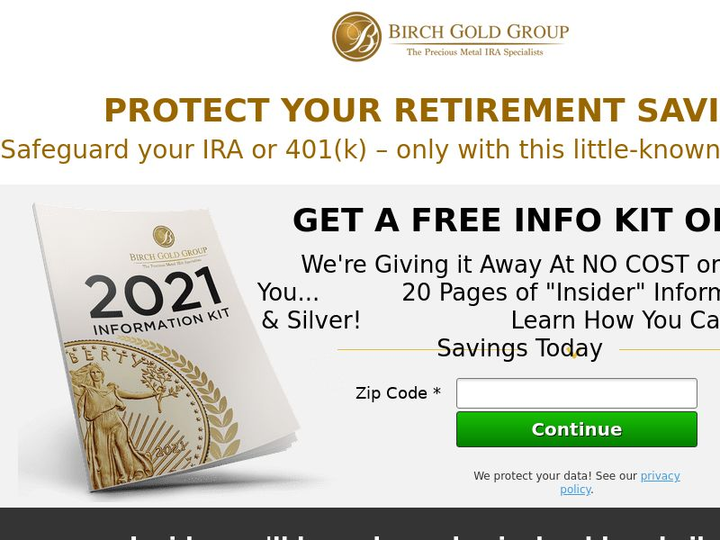 Birch Gold [US] (Email,Social,Native,SEO,Banner) - CPL+Revshare