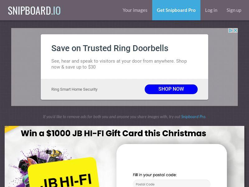YouSweeps - Win a jb hifi gift card christmas AU - SOI
